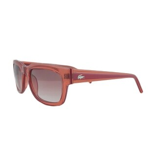Lacoste L 699S 630 Clear Red Rectangle Sunglasses - 53-21-140