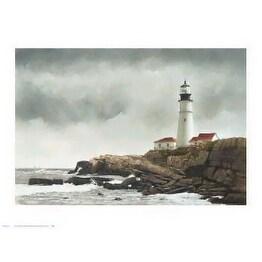 ''Portland Light'' by Douglas Brega Coastal Art Print (24 x 32 in.)