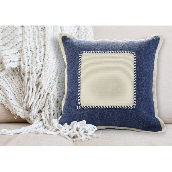Navy Riviera Framed Throw Pillow. Opens flyout.