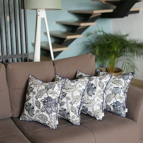 Jacquard Weaver Throw Pillow Covers (Set of 4)