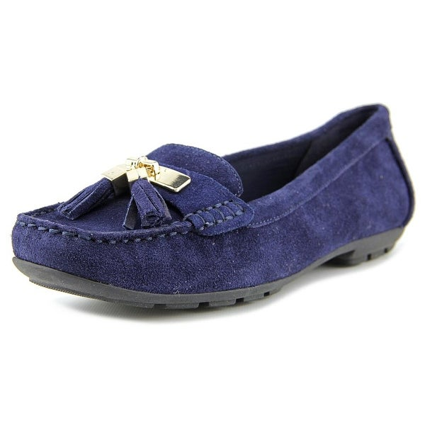 Womens Shoes Anne Klein Oates Navy Suede