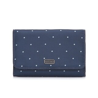 Daysafe Trifold Wallet - Navy Polka Dot RFID Blocking Trifold Wallet