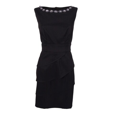 Connected Women's Sleeveless Embellished Dress - Black