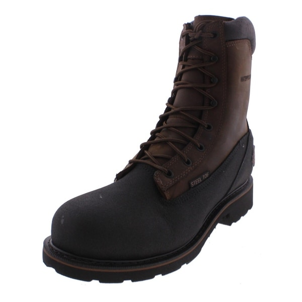 Justin Original Work Boots Mens Steel Toe Boots Leather Waterproof