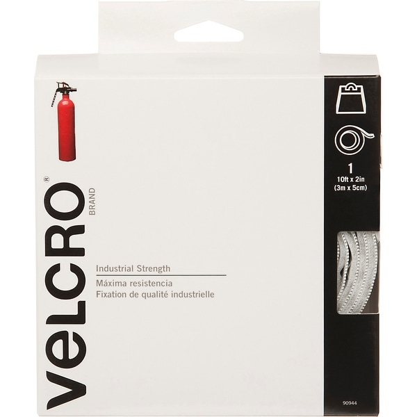 "Velcro(R) Brand Industrial Strength Tape 2""X10'-White"