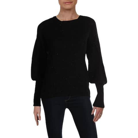 RD Style Womens Sweater Heathered Ribbed Trim