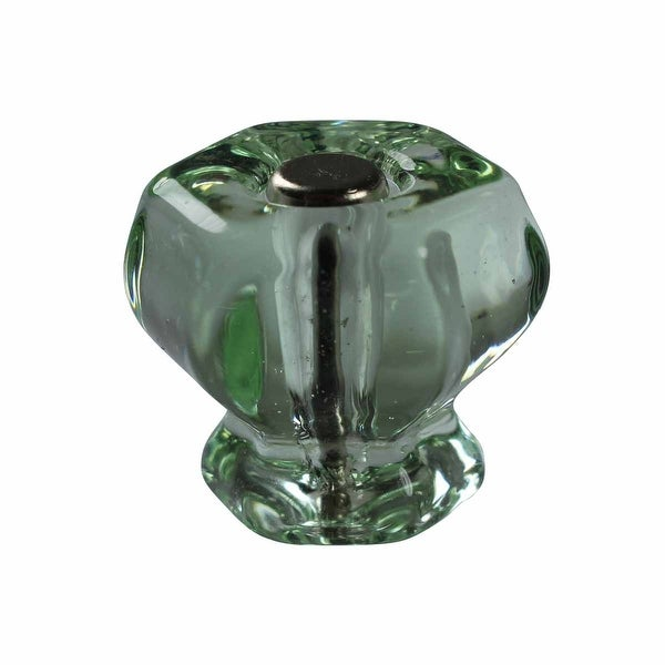 Cabinet Knob Green Glass 1 1/4 Dia