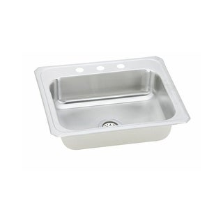 """Elkay CR3122  Celebrity 31"""" Single Basin 20-Gauge Stainless Steel Kitchen Sink for Drop In Installations with SoundGuard"""