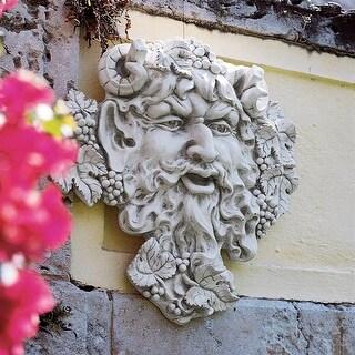 Design Toscano Bacchus, God of Wine Greenman Wall Sculpture: Large