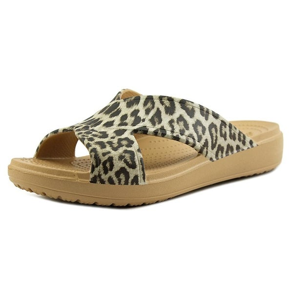 Crocs Sloane Graphic X-Strap Women Open Toe Synthetic Slides Sandal