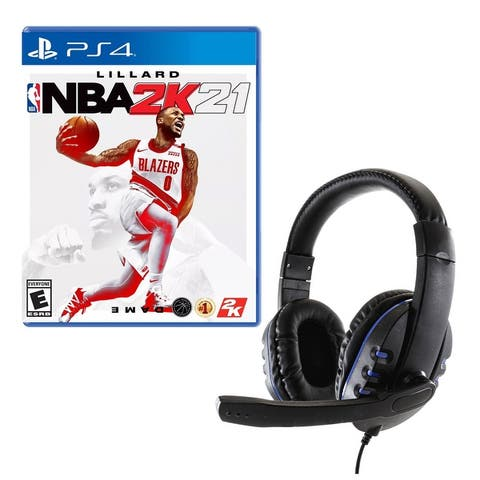 NBA 2K21 Game for PlayStation with Universal Headset - Multicolor