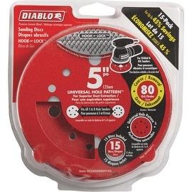 "Diablo 15Pk 5"" 80G Sanding Disc"