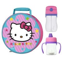 Thermos Hello Kitty Novelty Lunch Kit w/ 8oz Sippy Cup & 11oz Straw Bottle