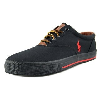 Polo Ralph Lauren Vaughn Men Round Toe Canvas Black Oxford