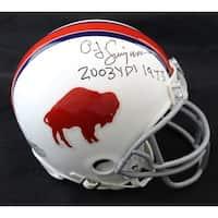 OJ Simpson Autographed Buffalo Bills Riddell 6573 Mini Helmet 2003 Yds 1973 JSA