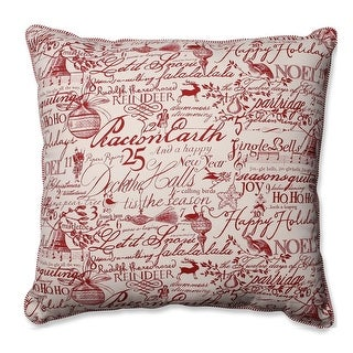 "25"" Holiday Song Square Decorative Throw Pillow"