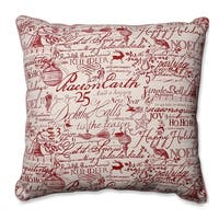 "25"" Holiday Song Square Decorative Throw Pillow - WHITE"