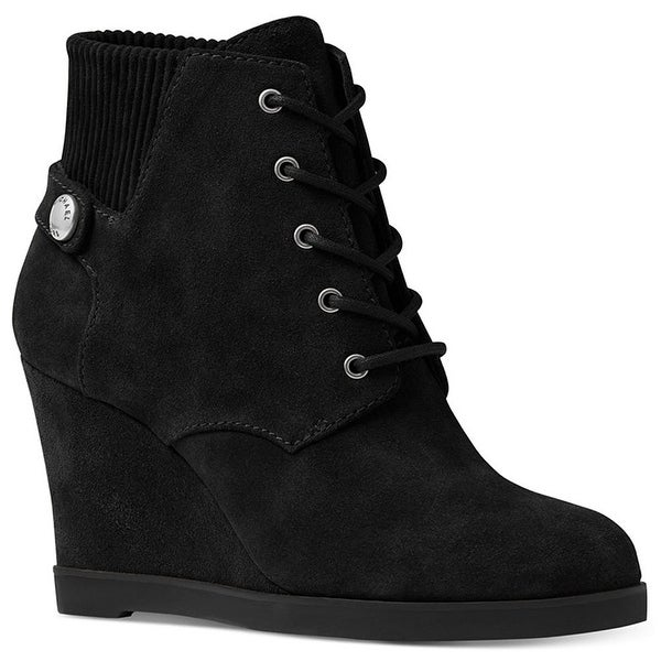 MICHAEL Michael Kors Womens Carrigan Wedge Closed Toe Ankle Fashion Boots