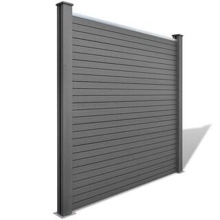 vidaXL Square WPC Garden Fence Panel Gray
