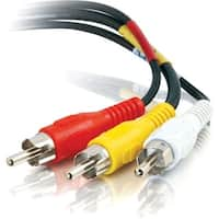 """""""C2G 40451 C2G 50ft Value Series Composite Video + Stereo Audio Cable - RCA Male - RCA Male - 50ft - Black"""""""