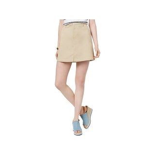 Tommy Hilfiger Womens Mini Skirt A-Line Slit Pockets