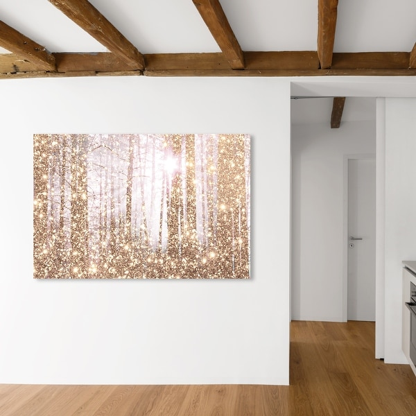 Oliver Gal 'Magical Forest Dream' Nature and Landscape Wall Art Canvas Print Forest Landscapes - Gold, White. Opens flyout.