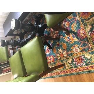 Safavieh Handmade Aspen Modern & Contemporary Turquoise / Purple Wool Tassel Area Rug - 5' X 8'