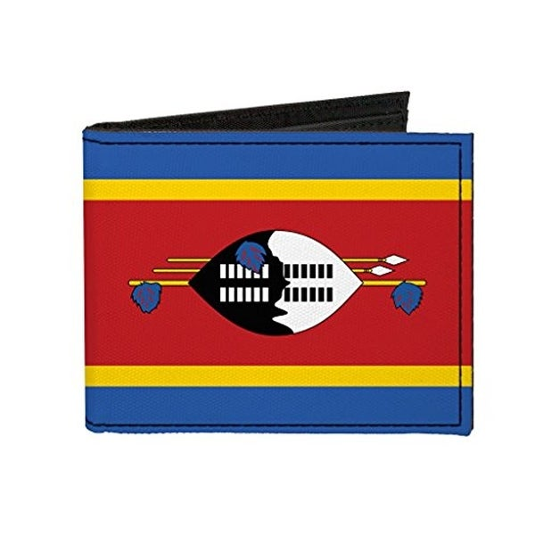 Buckle-Down Canvas Bi-fold Wallet - Swaziland Flag Accessory