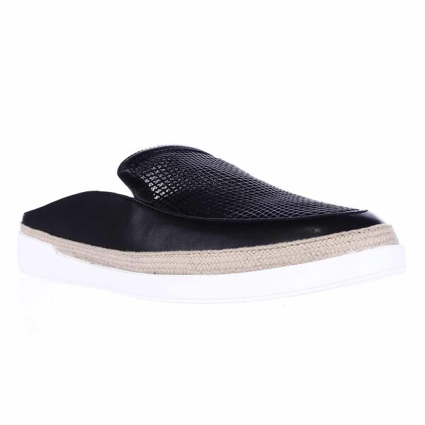 Carlos Carlos Santana Pacey Flat Slip On Mules, Black