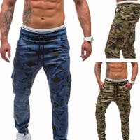 Men Casual Sweatpants Camouflage Sports Trousers Drawstring Hip-hop Long Pants