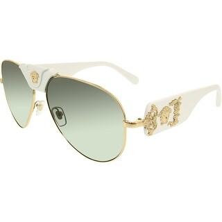 Versace Men's VE2150Q-134187-62 Gold Aviator Sunglasses