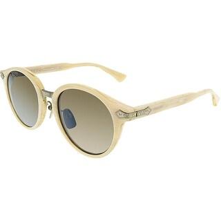 Gucci Anti-reflective GG0066S-002-50 White Round Sunglasses