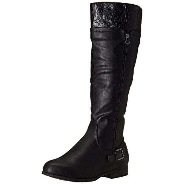 Easy Street Womens Burke Riding Boots Faux Leather Knee-High