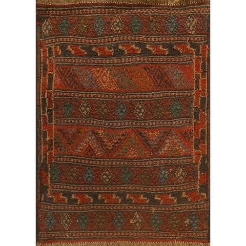 "Tribal Kilim Shiraz Persian Area Rug Wool Flat-weave Foyer Carpet - 2'1"" x 2'8"""