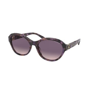Link to Coach HC8293 561236 57 Purple Tortoise Woman Oval Sunglasses Similar Items in Women's Sunglasses