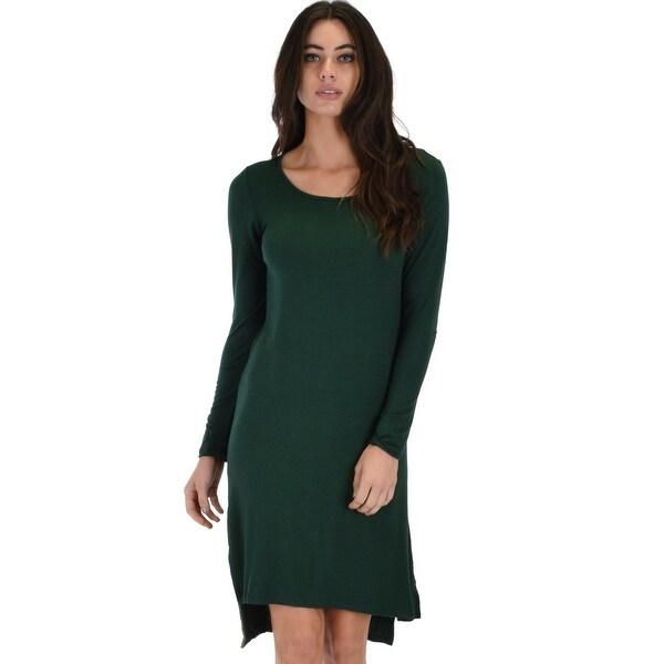 9e8b52add13b5 Kiss The Moon Long Sleeve Olive Midi Dress-Olive-Large