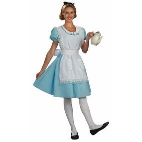Disney Womens Alice in Wonderland Halloween Costume - standard - one size