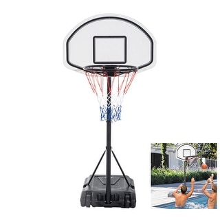 Link to Poolside Basketball Hoop System Portable Swimming Pool Basketball Goal Set Game Stand Similar Items in Team Sports Equipment