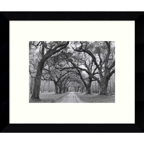 Framed Art Print 'Oak Arches' by Jim Morris 11 x 9-inch