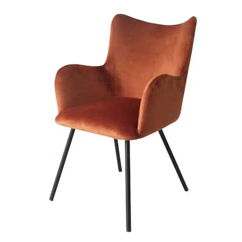 Modrest Barrett Modern Orange & Black Dining Chair