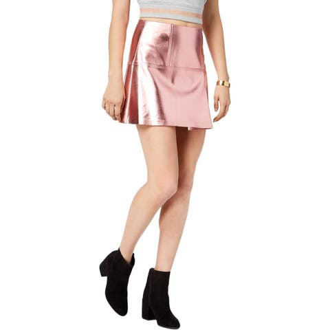 Guess Womens Mini Skirt Metallic Layered