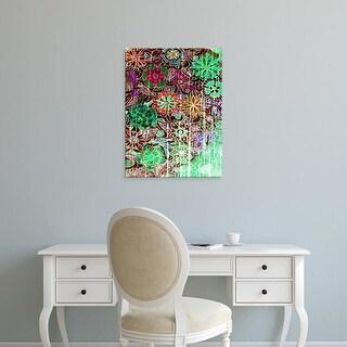 Easy Art Prints Danielle Harrington's 'Flower Drift I' Premium Canvas Art