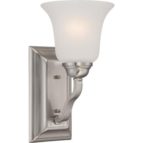 Nuvo Lighting 60/5591 Elizabeth 1 Light Bathroom Sconce in Brushed Nickel