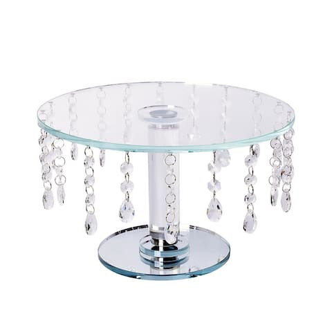 White Crystal Cake Chandelier Pillar Stand Wedding Display Plates