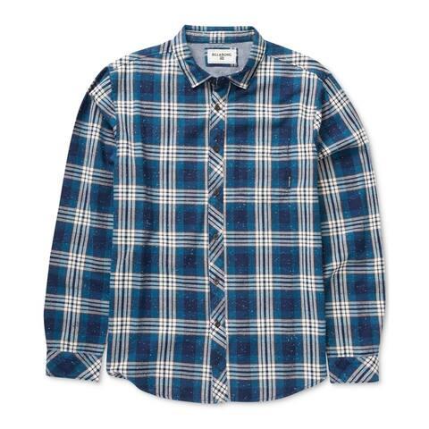 Billabong Mens Jackson Button Up Shirt, Blue, Small