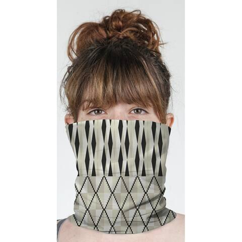 """STEPPING STONE CREAM Neck Gaiter By Becky Bailey - 10"""" x 18"""""""