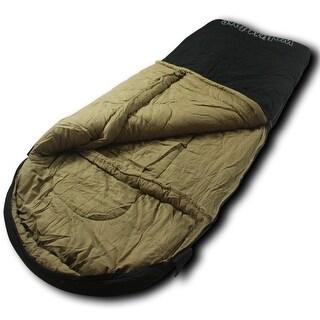 Wolftraders LoneWolf +0 Degree Fahrenheit Oversized Premium Canvas Sleeping Bag, Black/Tan