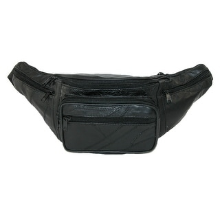 CTM® Patch Leather Large Waist Pack