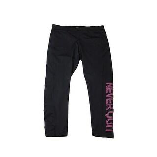 Ideology Plus Size Black Graphic Leggings 3X