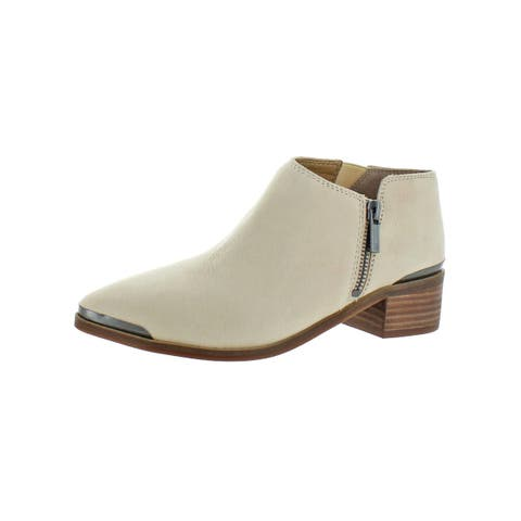 Lucky Brand Womens Koben Ankle Boots Stretch Stacked Heel